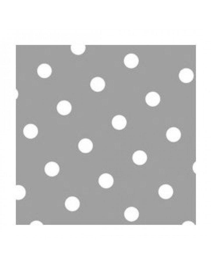 SERVILLETAS 3 CAPAS  MOD. DOTS GRIS 10 Paquetes/Caja