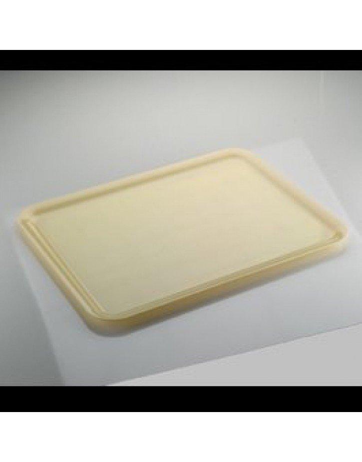 BANDEJA REUTILIZABLE  RECTANGULAR  37x50 cm CREMA 1 Ud/Paq