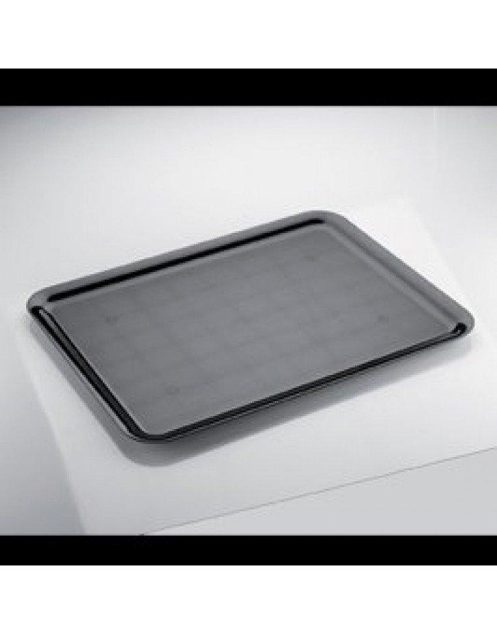 BANDEJA REUTILIZABLE RECTANGULAR 37x50 cm NEGRO 1 Ud/Paq
