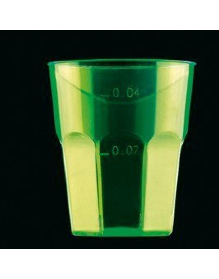 VASO DE LICOR COLOR VERDE