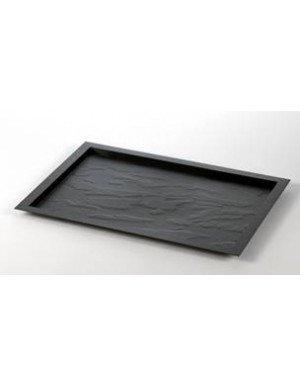 BANDEJA EFECTO PIZARRA REUTILIZABLE 31,5 x 24 cm NEGRO  5 Ud/Paq