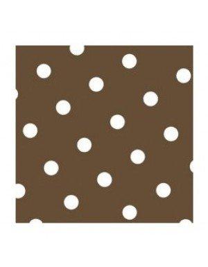 SERVILLETAS DOTS 20 x 20 cm MARRON (20 Ud/Paq)