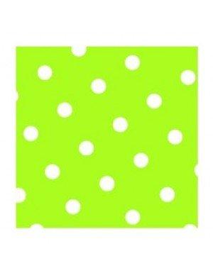 SERVILLETAS DOTS  20 x 20 cm VERDE LIMON (20 Ud/Paq)
