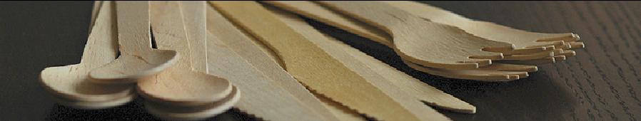 Cubiertos y Pinchos Madera