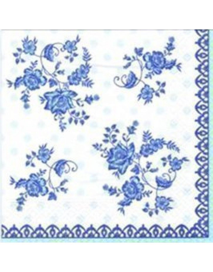 Servilleta de papel azul