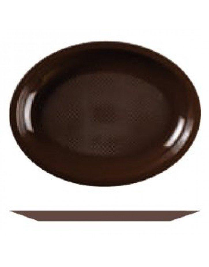 PLATOS DE PLÁSTICO 22cm/31cm CHOCOLATE 12/50 Paq/Cj