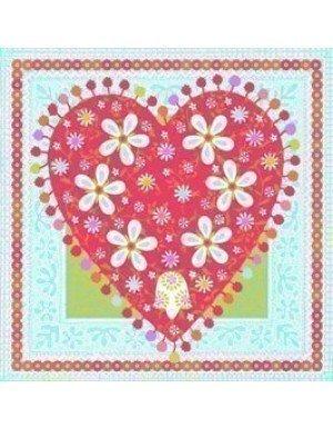 SERVILLETAS 3 CAPAS DECORATED HEART (20 Ud/Paq)