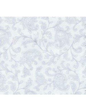 SERVILLETAS CÓCTEL ORNAMENT EFECTO TELA 12,5 x 12,5 cm BLANCO ( 20 Ud/Paq)