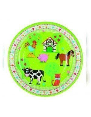 PLATO LITTLE FARM 23 cm VERDE 10 Ud/Paq