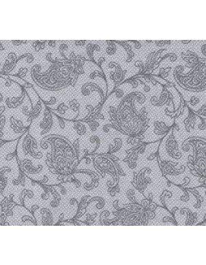 SERVILLETAS CÓCTEL ORNAMENT EFECTO TELA 12,5 x 12,5 cm GRIS  (20 Ud/Paq)