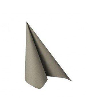 "SERVILLETAS EFECTO TELA GRIS""  16,5 x 16,5 cm (20 Ud/Paq)"