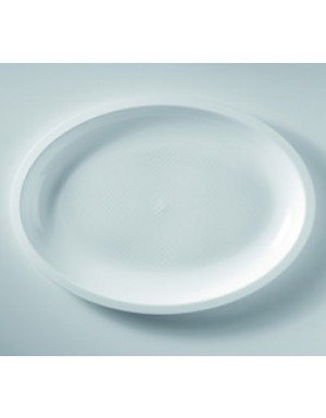 PLATO  BANDEJA OVAL GRANDE PP  31.5 cm BLANCO 25 Ud/Paq