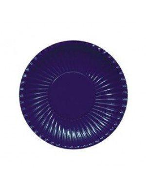 PLATO CARTON AZUL MARINO 18 cm 10 Ud/Paq