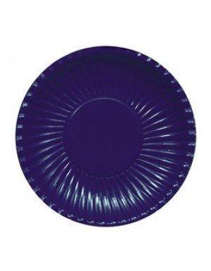PLATO CARTON AZUL MARINO 23 cm 10 Ud/Paq