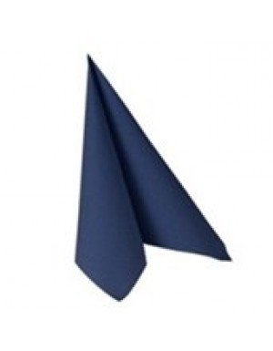 SERVILLETA CÓCTEL EFECTO TELA 12,5 x 12,5 cm AZUL (50 Ud/Paq)