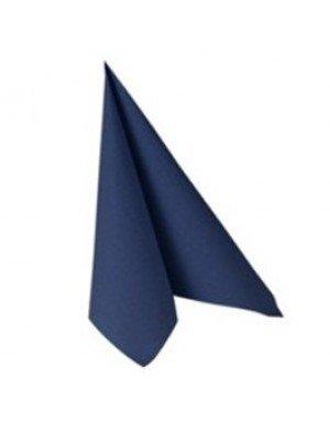 SERVILLETA LISA EFECTO TELA 16,5 x 16,5 cm AZUL OSCURO (20 Ud/Paq)